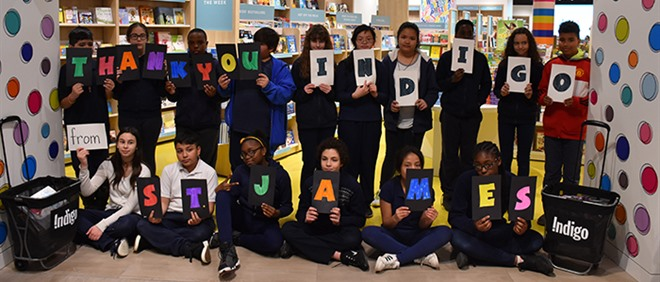 St. James Students Transform Classroom Libraries with Indigo Love of Reading Grant